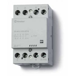 Stycznik modułowy 2 zwierne 2 rozwierne 40A, wskażnik zadziałania, zasilanie cewki uniwersalne AC/DC, 22.44.0.024.4610