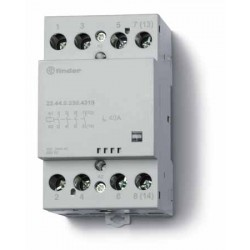 Stycznik modułowy 3 zwierne 1 rozwierny 40A, wskażnik zadziałania, zasilanie cewki uniwersalne AC/DC