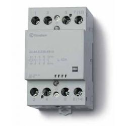 Stycznik modułowy 2 zwierne 2 rozwierne 63A, wskażnik zadziałania, zasilanie cewki uniwersalne AC/DC, 22.64.0.230.4610