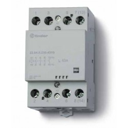 Stycznik modułowy 3 zwierne 1 rozwierny 63A, wskażnik zadziałania, zasilanie cewki uniwersalne AC/DC, 22.64.0.230.4710