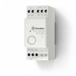 Elektroniczny przekaźnik impulsowy/monostabilny, 1 zestyk przełączny (1P 16A), 125V AC, obudowa modułowa, 13.01.0.125.0000