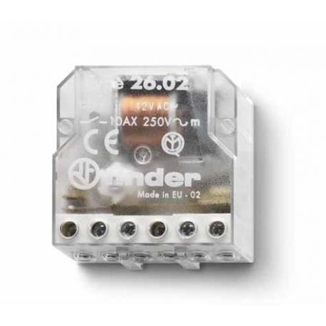 Przekaźnik impulsowy 2Z 10A 12V AC
