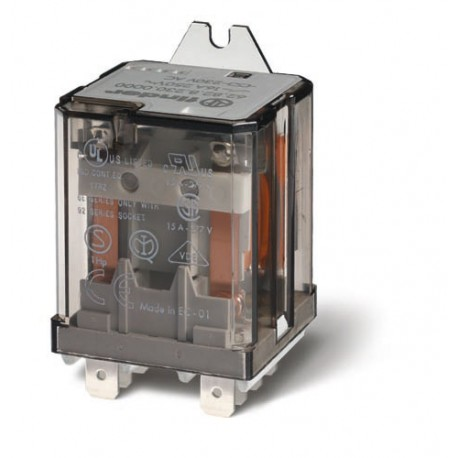 Przekaźnik 2P 16A 24V AC, na panel, Faston 250