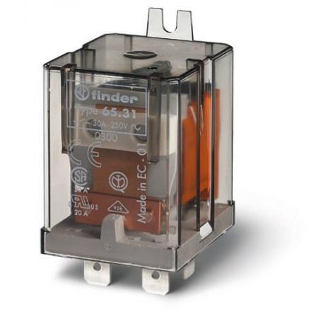 Przekaźnik 1Z 30A 24V AC, na panel, Faston 250