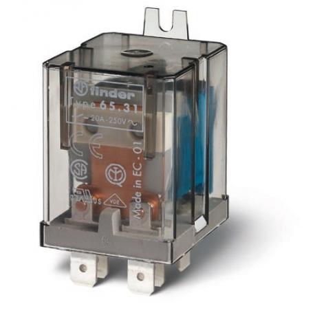 Przekaźnik 1Z+1R 20A 230V AC, na panel, Faston 250