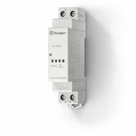 Elektroniczny przekaźnik impulsowy, 1 zestyk zwierny (1Z 16A), obudowa instalacyjna (1S 17,5mm), 350-100W w zależności od rodzaj