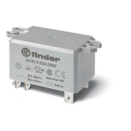 Przekaźnik 2Z 30A 230V AC, na panel, Faston 250