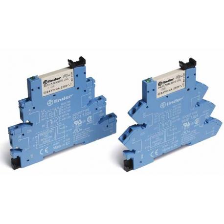 Przekaźnikowy moduł sprzęgający 1P 6A 230V AC, linie długie