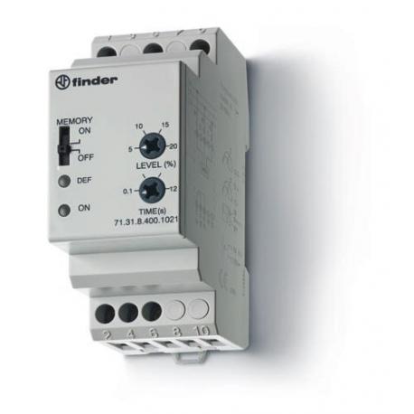 Przekaźnik 1P 10A 400V AC, nadzór napięcia 3-faz (0,8...0,95 Umin, 1,15 Umax, 0,1...12s), funkcja pamięci
