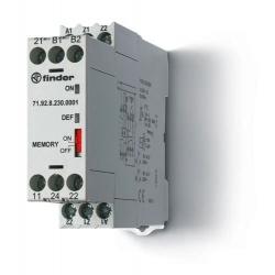 Przekaźnik termistorowy(nadzór temperatury PTC),pamięć błędów z funkcją MANUAL lub AUTO RESET lub  zasilanie 24VAC/DC, wyjście 2