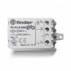 """Przekaźnik impulsowy """"krokowy"""" 2Z 10A 250V, cewka 230 VAC, montaż w puszkach instalacyjnych lub obudowach, 27.25.8.230.0000"""