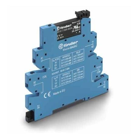 Przekaźnikowy moduł sprzęgający 6,2mm MasterBASIC, SSR wyj. 2A / 24VDC  zasil. 6VDC ,  zaciski śrubowe, montaż na szynie DIN 35m