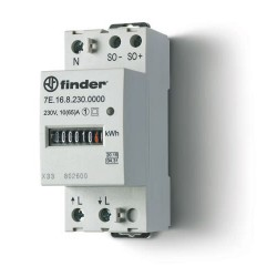 Licznik energii elektromechaniczny1 faz. 10/65A – 230VAC, wyjście impulsowe SO (5...30VDC), szerokość 35mm, 7E.16.8.230.0000