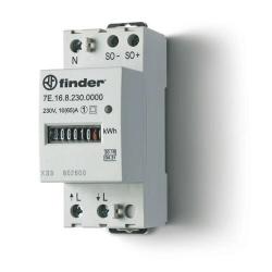 Licznik energii elektromechaniczny1 faz. 10/65A – 230VAC  wg standardów MID, wyjście impulsowe SO (5...30VDC), szerokość 35mm, m