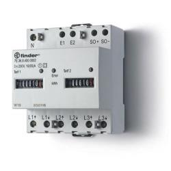 Licznik energii elektromechaniczny2 taryfowy -  3faz. 10/65A – 3x230VAC, wyjście impulsowe SO(5...30VDC), 7E.36.8.400.0002