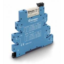 Przekaźnikowy moduł sprzęgający 6,2mm MasterBASIC,1P 6A 12VAC/DC, styki AgNi ,  zaciski śrubowe, 39.11.0.012.0060