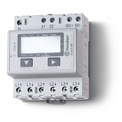 Licznik energii elektroniczny (wyświetlacz LCD) 3faz. bezpośredni -5A – 3x230VAC – pomiar pośredni do 1500A, wyjście impulsowe S