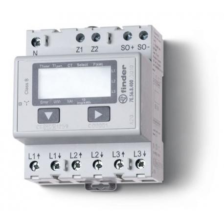 Licznik energii elektroniczny (wyświetlacz LCD) 3faz. bezpośredni -5A – 3x230VAC – pomiar pośredni do 1500Awg standardów MID, wy