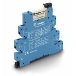 Przekaźnikowy moduł sprzęgający 6,2mm MasterOUTPUT,1P 6A 12VAC/DC, styki AgNi ,  zaciski śrubowe, montaż na szynie DIN 35mm