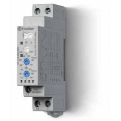 Przekaźnik kontroli napięcia 1faz.nastawy poniżej lub powyżej wartości napięcia lub w określonym zakresie,szerokość 17,5mm, wyjś