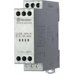 Przekaźnik kontroli napięcia 3faz. Kontrola zaniku, rotacji i niskiej wart. Napięcia na fazę, zakres kontroli 208...480VAC, zasi