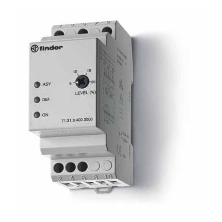 Przekaźnik 1P 10A 400V AC, kontrola asymetrii (-5...-20% Un), rotacji oraz zaniku fazy