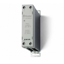 Stycznik SSR z radiatorem na szynę DIN 15A, załączanie natychmiastowe , sterowanie 230 V AC