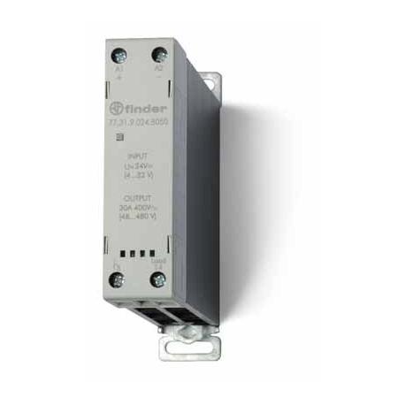 Stycznik SSR z radiatorem na szynę DIN 30A, załączanie natychmiastowe, sterowanie 230V AC