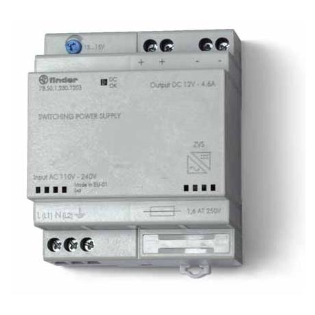 Zasilacz impulsowy, obudowa modułowa(4 moduły)50W/24VDC, 110...240VAC