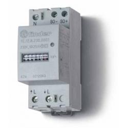 Licznik energii elektromechaniczny1 faz. 10/25A – 230VAC, wyjście impulsowe SO (5...30VDC), szerokość 35mm, montaż na szynie DIN