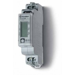 Licznik energii elektroniczny (wyświetlacz LCD) 1faz. 5/32A 230VAC, wyjście impulsowe SO (5...30VDC), szerokość 17,5mm, montaż n