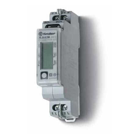 Licznik energii elektroniczny (wyświetlacz LCD) 1faz. 5/32A 230VAC wg standardów MID, wyjście impulsowe SO (5...30VDC), szerokoś