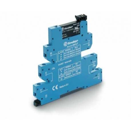 Przekaźnikowy moduł sprzęgający 6,2mm MasterINPUT, SSR wyj. 2A / 24VDC  zasil.12VDC ,  zaciski śrubowe, montaż na szynie DIN 35m