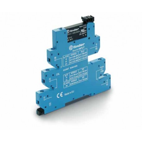 Przekaźnikowy moduł sprzęgający 6,2mm MasterINPUT, SSR wyj. 2A / 24VDC  zasil.220...240VAC ,  zaciski śrubowe, montaż na szynie