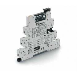 Przekaźnikowy moduł sprzęgający 6,2mm MasterTIMER – przek. Czasowy wielofunkcyjny, SSR OC 2A / 24VDC, 39.80.0.024.9024