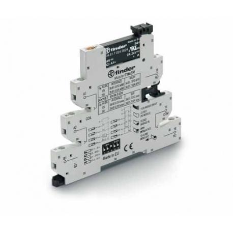 Przekaźnikowy moduł sprzęgający 6,2mm MasterTIMER – przek. Czasowy wielofunkcyjny (AI,DI,GI,SW,BE,CE,DE,EE),SSR OC 2A / 24VDC za