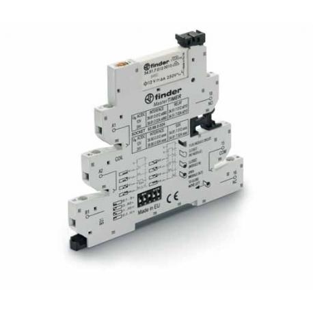 Przekaźnikowy moduł sprzęgający 6,2mm MasterTIMER – przek. Czasowy wielofunkcyjny (AI,DI,GI,SW,BE,CE,DE,EE),1P 6A 12VAC/DC, styk