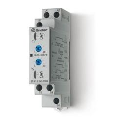 Przekaźnik czasowy jednofunkcyjny LI, LE, sterowanie 12...240VAC/DC, wyjście przekaźnik 1P 16A 250V, szerokość 17,5mm, montaż na