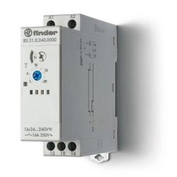 Przekaźnik czasowy jednofunkcyjny DI, zakresy czasowe od 0,05s do 10dni, sterowanie 24...240VAC/DC, wyjście przekaźnik 1P 16A 25