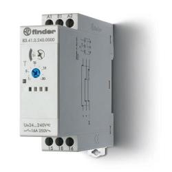 Przekaźnik czasowy jednofunkcyjny BE, zakresy czasowe od 0,05s do 10dni, sterowanie 24...240VAC/DC, 83.41.0.240.0000