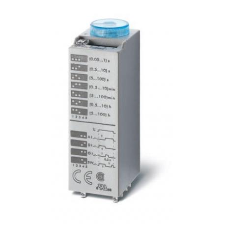 Przekaźnik czasowy 2P 10A 12V AC/DC, wielofunkcyjny AI, DI, SW, GI