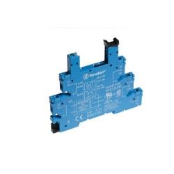 Wąskoprofilowe gniazdo 6,2mm do przekaźników serii 34, 48...60VAC/DC,  zaciski śrubowe, montaż na szynę DIN