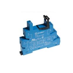 Gniazdo do przekaźników serii 41.52/41.61/41.81, 6...24VAC/DC, zaciski śrubowe, montaż na szynę DIN