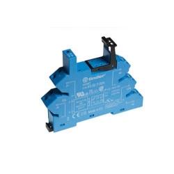 Gniazdo do przekaźników serii 41.52/41.61/41.81, 6...24VAC/DC, zaciski sprężynowe (samozacisk), montaż na szynę DIN