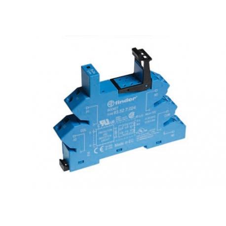 Gniazdo do przekaźników serii 41.52/41.61/41.81, 6...24VDC, zaciski sprężynowe (samozacisk), montaż na szynę DIN