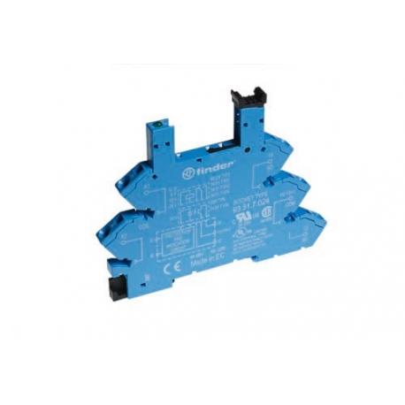 Wąskoprofilowe gniazdo 6,2mm do przekaźników serii 34 – MasterOUTPUT,6...24VDC, zaciski śrubowe, montaż na szynę DIN