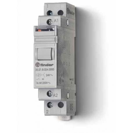 Przekaźnik impulsowy 1Z+1R 16A 24V AC, styk AgSnO2