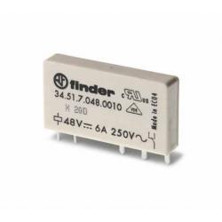 Przekaźnik 1P 6A 60V DC, styk AgNi+Au