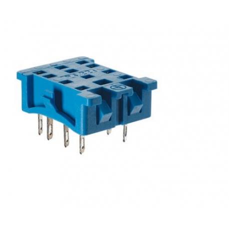Gniazdo do serii 55.32/55.34/85.02/85.04, z PIN-ami do polutowania,  montaż na przepuście płyty montażowej, obudowy(klip metalow