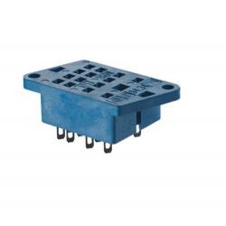 Gniazdo do serii 55.32/55.34/85.02/85.04, z PIN-ami do polutowania,  montaż na przepuście płyty montażowej, obudowy (śruby M3),